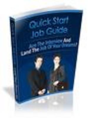 Product picture Quick Start Job Guide-job vacancies,job change