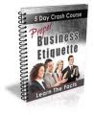 Product picture Proper Business Etiquette Crash Course-business culture